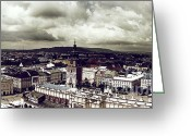 Old Krakow Greeting Cards - Cracow City Greeting Card by Kate Black