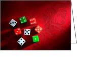Fabric Greeting Cards - Craps  Greeting Card by Olivier Le Queinec