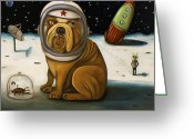 Puppy Greeting Cards - Crash 2    Not Again Greeting Card by Leah Saulnier The Painting Maniac