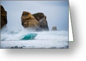 Lanscape Photo Greeting Cards - Crashing wave Greeting Card by Cesar Marino