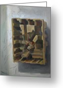Product Painting Greeting Cards - Crate II Greeting Card by Maia Oprea