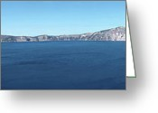 Southern Oregon Photo Greeting Cards - Crater Lake panorama Oregon. Greeting Card by Gino Rigucci