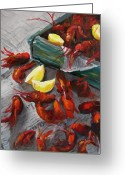 Cajun Greeting Cards - Crawfish Boil Greeting Card by Cari Humphry