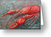 Louisiana Seafood Greeting Cards - Crawfish Greeting Card by Todd A Blanchard