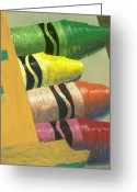 Crayons Greeting Cards - Crayola Greeting Card by Garry McMichael