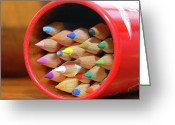 Colored Photographs Greeting Cards - Crayons Greeting Card by Graham Taylor