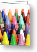 Crayons Greeting Cards - Crayons Greeting Card by Photo Researchers, Inc.
