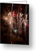 Pyrotechnics Greeting Cards - Crazy Crowd Greeting Card by Paul Mangold
