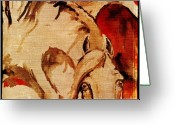Wild Horse Greeting Cards - Crazy horse 1 Greeting Card by Angel  Tarantella