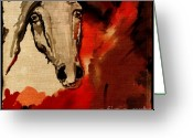 Wild Horse Greeting Cards - Crazy horse 4 Greeting Card by Angel  Tarantella