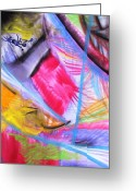Abstract Card Pastels Greeting Cards - Crazy World Greeting Card by Petra Olsakova