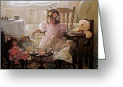 Doll Painting Greeting Cards - Cream and Sugar Greeting Card by Greg Olsen
