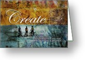 Bicycle Art Greeting Cards - Create Greeting Card by Evie Cook