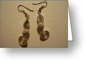 Silver Jewelry Greeting Cards - Create in Silver Earrings Greeting Card by Jenna Green