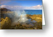 ; Maui Photo Greeting Cards - Creating Miracles Greeting Card by Mike  Dawson
