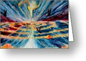 Religious Art Painting Greeting Cards - Creation Greeting Card by Kd Neeley