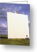 Blank Greeting Cards - Creative problems Greeting Card by Jerry LoFaro