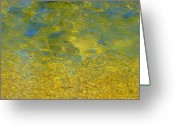 Debbie Johnson Greeting Cards - Creekwater Abstract Greeting Card by Deborah  Crew-Johnson