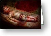 Scary Photo Greeting Cards - Creepy - Weird - No one ever suspected  Greeting Card by Mike Savad