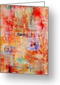 Vertical Abstract Greeting Cards - Crescendo Greeting Card by Pat Saunders-White