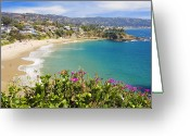 Beach Scenery Photo Greeting Cards - Crescent Bay Laguna Beach California Greeting Card by Utah Images