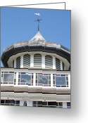 Weathervane Greeting Cards - Crescent Park carousel cupola Greeting Card by Anne Babineau