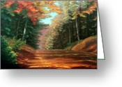 Landscape Posters Painting Greeting Cards - Cressmans Woods Greeting Card by Otto Werner