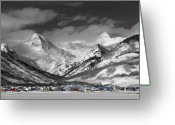 Butte Greeting Cards - Crested Butte Winter Fantasy Greeting Card by Dusty Demerson