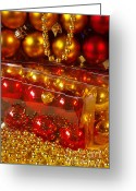 Glass Beads Greeting Cards - Crhistmas Decorations Greeting Card by Carlos Caetano