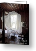 Restless Light Photography Greeting Cards - Crib with Mosquito Netting in a Florida Cracker Farmhouse Greeting Card by Lynn Palmer