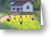 Bat Greeting Cards - Cricket Greeting Card by Andrew Macara