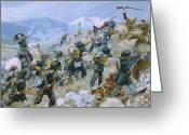 Outskirts Greeting Cards - Crimean War and The Battle of Chernaya Greeting Card by Italian School