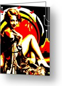 Corset Greeting Cards - Crimson Moon Greeting Card by Chris Andruskiewicz