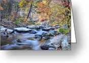 Colors Of Autumn Greeting Cards - Crisp Autumn Air Greeting Card by JC Findley