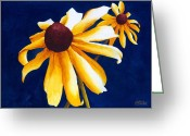 Black Eyed Susans Greeting Cards - Criss Cross Greeting Card by Ken Powers