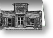 West Country Greeting Cards - Criterion Hall Saloon -- Montana Territories Greeting Card by Daniel Hagerman