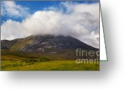 Mountain Summit Greeting Cards - Croagh Patrick mountain Greeting Card by Gabriela Insuratelu