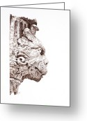 Sarah Zilbershteyn Greeting Cards - Croation Gargoyle Greeting Card by Sarah Zilbershteyn