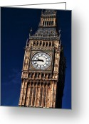 Clock Hands Greeting Cards - Crooked Ben Greeting Card by John Rizzuto