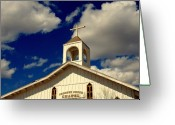 Religious Building Greeting Cards - Crooked Creek Chapel Greeting Card by Susanne Van Hulst