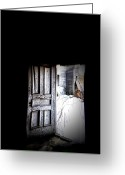 Old Doors Greeting Cards - Crooked Entrance Greeting Card by Emily Stauring