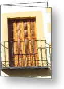Toledo Greeting Cards - Crooked Window in Toledo Greeting Card by John A Shiron