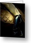 Dressage Digital Art Greeting Cards - Crop and Boot Greeting Card by Steven  Digman