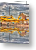 Flyers Art Greeting Cards - Crop Duster 001 Greeting Card by Barry Jones