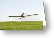 Farm Greeting Cards - Crop Duster Greeting Card by Cindy Singleton