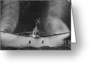 Plane Greeting Cards - Crop duster Greeting Card by Jim Wright