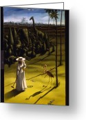 Alice In Wonderland Painting Greeting Cards - Croquet Greeting Card by Jane Whiting Chrzanoska