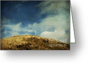 Sacred Photo Greeting Cards - Cross Greeting Card by Bernard Jaubert