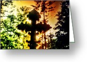 Background Greeting Cards - Cross Greeting Card by Lea Ward