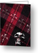 Roseanne Jones Greeting Cards - Cross Skulls Greeting Card by Roseanne Jones